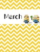 Minion Monthly Binder Covers and Labels