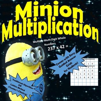 Minion Multiplication: 3 Digit by 2 Digit Multiplication