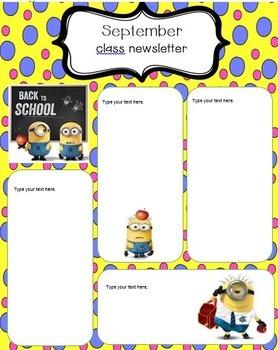 Minion Newsletter Template
