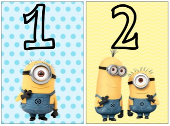 Minion Number Cards 1-10
