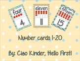Minion Number Cards 1-20