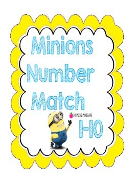 Minion Number Math 1 to 10