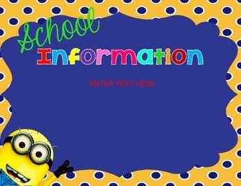 Minion Open House PowerPoint
