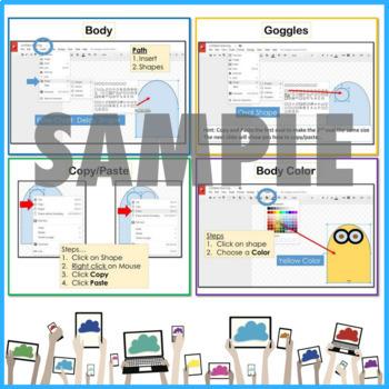 Google Drawings using Shapes to make a Minion