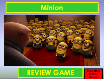 Minion PowerPoint / Smartboard Game Template