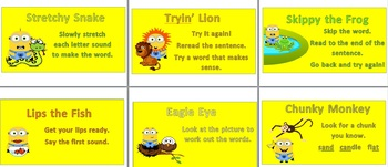 Minion Reading Strategy Posters