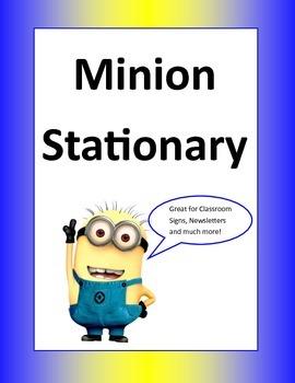 Minion Stationary
