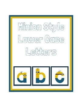 Minion Style Lowercase Alphabet
