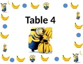 Minion Table Sign Design 2