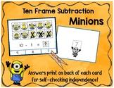 Minion Ten Frame Subtraction Clip Cards