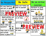 Minion Theme Classroom rules