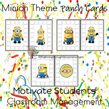 Punch Cards Minion Theme Motivate Students