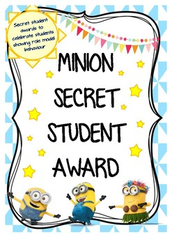 Minion Theme Secret Student Award