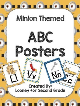 Minion Themed ABC Posters