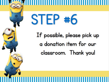 Minion Themed Back to School Station Signs (Editable Powerpoint)