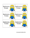 Minion Themed Bathroom and Water Tickets
