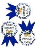 Minion Themed Birthday Ribbons
