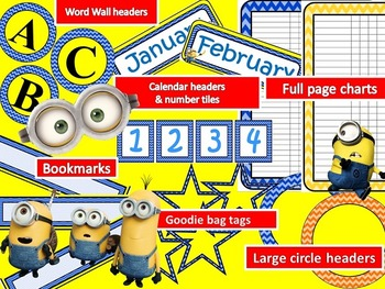 Minion Themed Classroom Decor Kit
