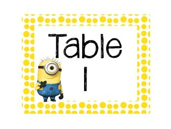 Minion Themed Classroom Labels