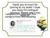 Minion Themed Classroom Management Clip Chart (Bilingual:
