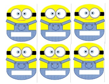 Minion Themed Classroom Name Decals