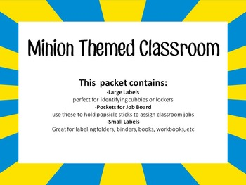 Minion Themed Classroom Resources