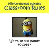 Minion Themed Editable Classroom Rules