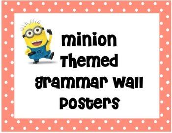 Minion Themed Grammar Wall