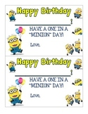 Minion Themed Happy Birthday Certificates