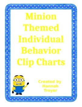 Minion Themed Individual Behavior Clip Charts