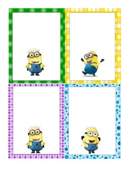 Minion Themed Labels (Great for Cubby)