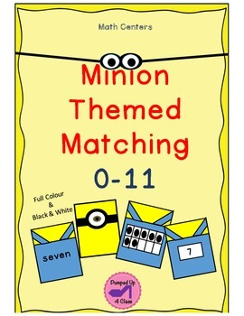 Minion Themed Matching Cards: 0-11