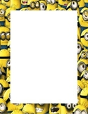 Minion Themed Print Out Border Page