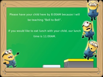Minion Themed Welcome Back to School PowerPoint Presentation