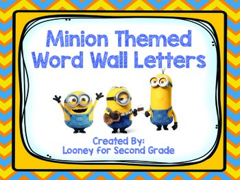 Minion Themed Word Wall Letters