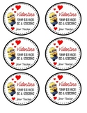Minion Valentine Tags from Teacher