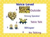 Minion Voice Levels
