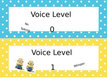 Minion Voice Levels