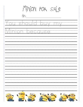Minion Writing