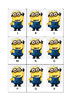 Minion alphabet flash cards - set of each upper and lower case
