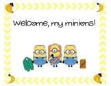 Minion back-to-school classroom sign