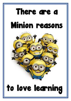 Minion classroom poster set