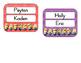 Minion cubbie tags for an AM & PM class
