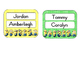 Minion cubbie tags for an AM & PM class