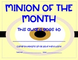 Minion of the Month Certificate