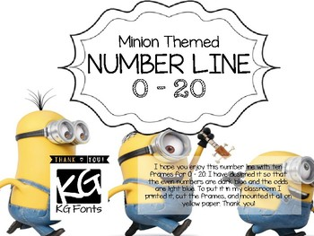 Minion themed number line, 0-20