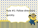 Minion themed power teaching rules