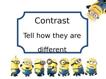 Minion themed power verb posters