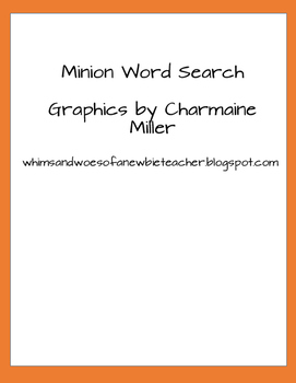 Minion word search