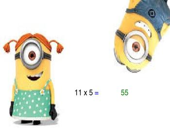 Minions Around the World Multiplication 6-12